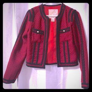 Deep Red tweed jacket